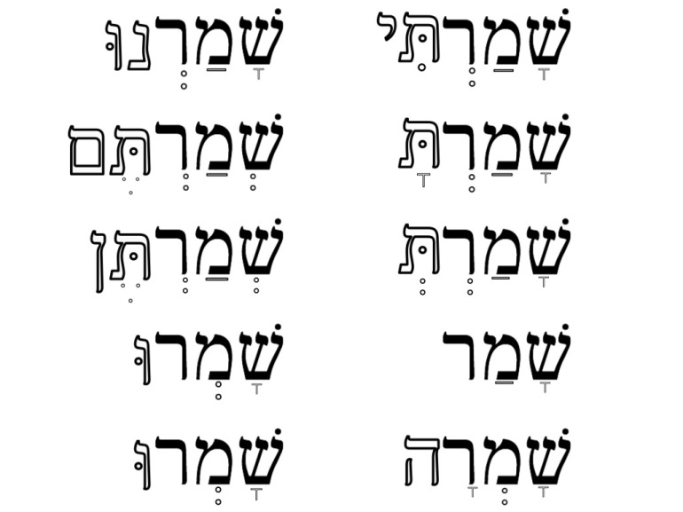 The Dusty Scholar Hebrew perfect tense